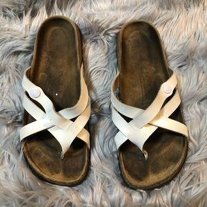 Betula Birkenstock White Sandals Size 39